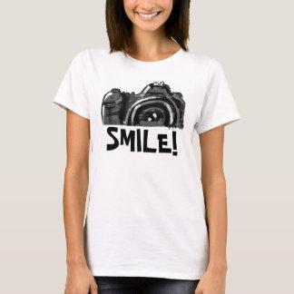 La sonrisa puede camiseta de la cámara