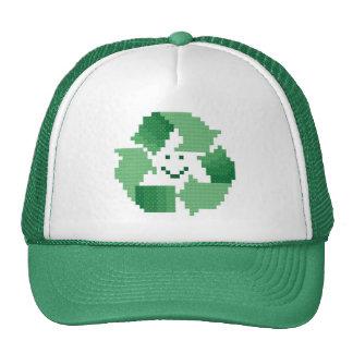 La sonrisa recicla el gorra del símbolo