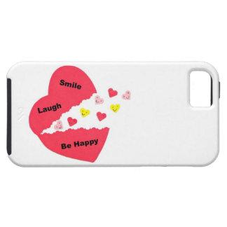 La sonrisa risa sea feliz Corazones felices iPhone 5 Case-Mate Cárcasas