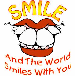 La sonrisa y el mundo sonríe con usted escultura fotografica