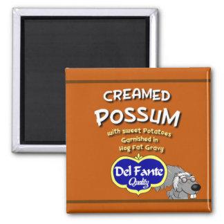 La sopa batida del oposum puede etiquetar el imán
