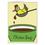 La sopa de pollo consigue la tarjeta bien