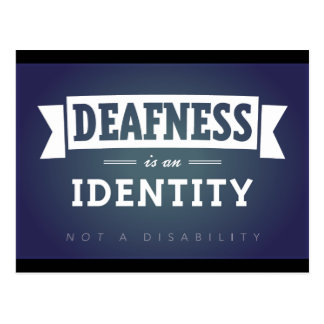 La sordera es una identidad. postal
