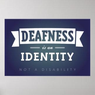 La sordera es una identidad. POSTER Póster