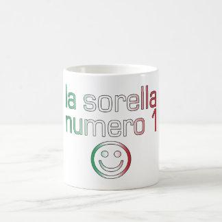 La Sorella Numero 1 - Number 1 Sister in Italian Mugs