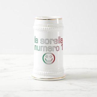 La Sorella Numero 1 - Number 1 Sister in Italian Mug