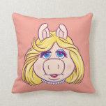 La Srta. Piggy Face Disney de los Muppets Cojin