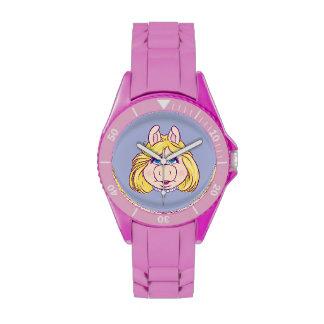 La Srta. Piggy Face Disney de los Muppets Reloj