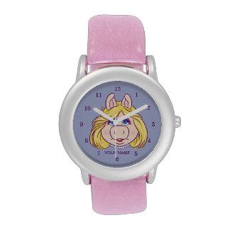 La Srta. Piggy Face Disney de los Muppets Relojes De Mano