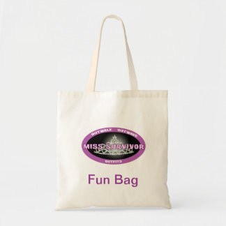 La Srta. Survivor Fun Bag Bolsa Tela Barata