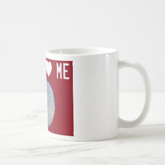 La staph me ama rojo taza básica blanca