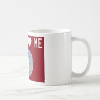 La staph me ama rojo taza de café