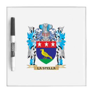 La-Stella Coat of Arms - Family Crest Dry-Erase Whiteboard