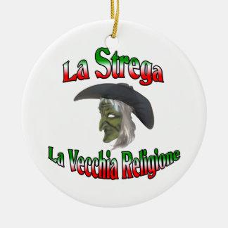 La Strega la bruja italiana de Halloween Adorno De Reyes
