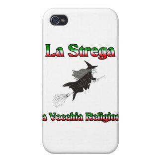 La Strega la bruja italiana de Halloween iPhone 4 Cárcasa