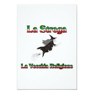 "La Strega la bruja italiana de Halloween Invitación 3.5"" X 5"""
