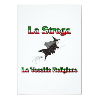 "La Strega la bruja italiana de Halloween Invitación 5"" X 7"""