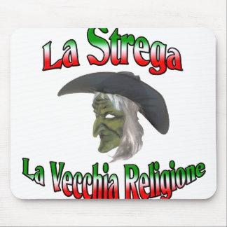 La Strega la bruja italiana de Halloween Alfombrilla De Ratones