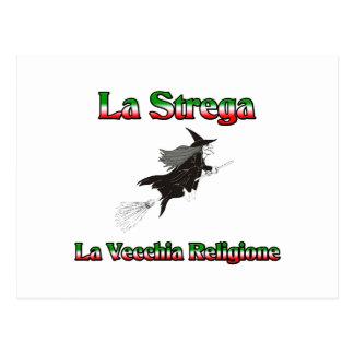 La Strega la bruja italiana de Halloween Tarjetas Postales