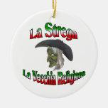 La Strega the Italian Halloween witch. Christmas Ornament