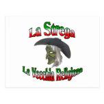 La Strega the Italian Halloween witch. Post Card