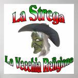 La Strega the Italian Halloween witch. Poster