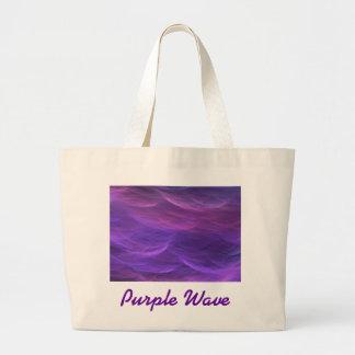 La suavidad púrpura del agua agita el bolso bolsa tela grande
