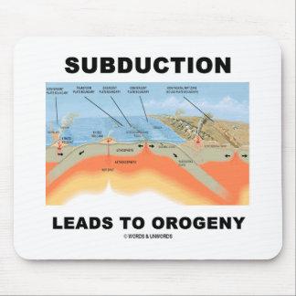 La subducción lleva a la orogenia (el humor de la  mouse pads