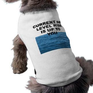 La subida actual del nivel del mar incumbe a usted playera sin mangas para perro