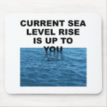 La subida actual del nivel del mar incumbe a usted alfombrillas de ratón