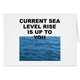La subida actual del nivel del mar incumbe a usted tarjeta