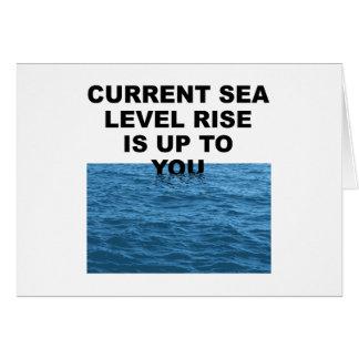 La subida actual del nivel del mar incumbe a usted felicitación