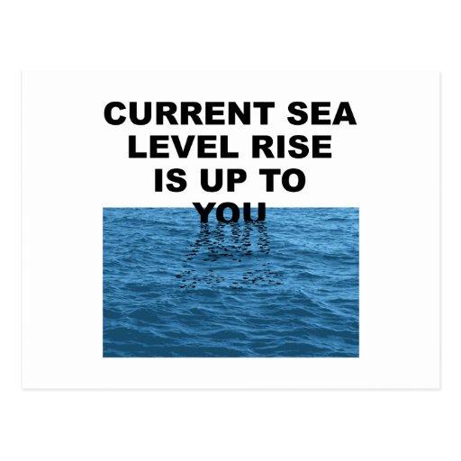 La subida actual del nivel del mar incumbe a usted tarjetas postales