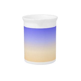 la subida colorida abstracta del sol inspiró las jarron