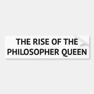 La subida de la reina del filósofo pegatina para auto