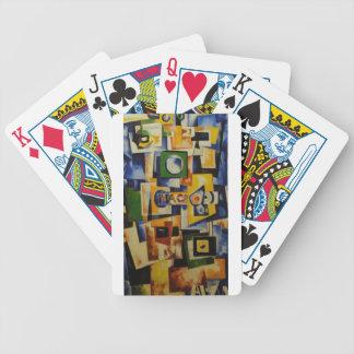 La subida del cuadrado verde y del violín de la baraja de cartas