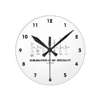 La sublimación es mi especialidad (la actitud de reloj redondo mediano