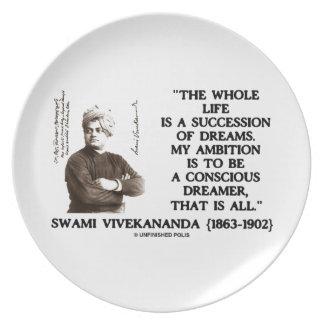 La sucesión del toda la vida de Vivekananda soña Plato