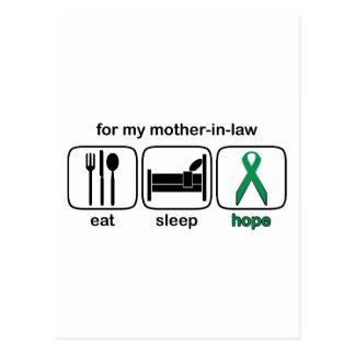 La suegra come la esperanza del sueño - cáncer del postal