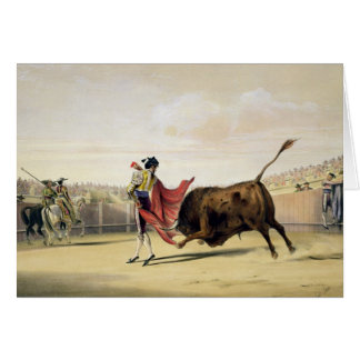 La Suerte de la Capa, 1865 (colour litho) Card