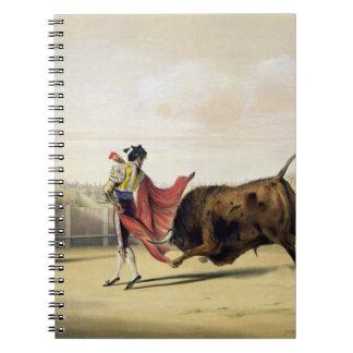 La Suerte de la Capa 1865 colour litho Spiral Note Book