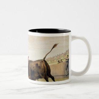 La Suerte de la Capa, 1865 (colour litho) Two-Tone Coffee Mug