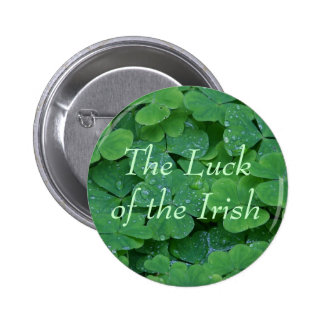 La suerte del irlandés pin redondo de 2 pulgadas