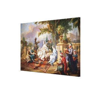 La Sultana servida por sus eunucos Impresiones En Lienzo Estiradas