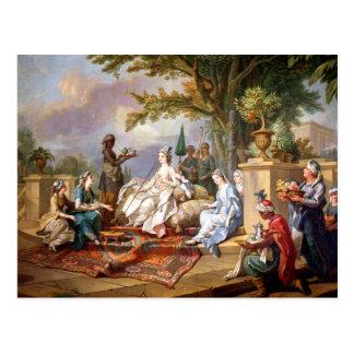 La Sultana servida por sus eunucos Postal