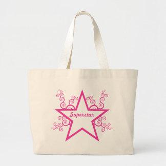 La superestrella remolina bolso, rosa brillante bolsa