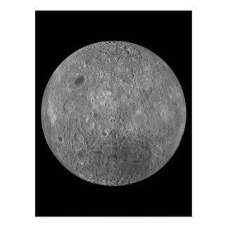 La superficie al otro lado de la luna de la tierra postal