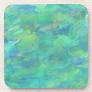 La superficie del agua del arte abstracto del posavasos de bebida