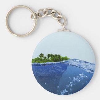 La superficie del mar, isla llavero redondo tipo pin