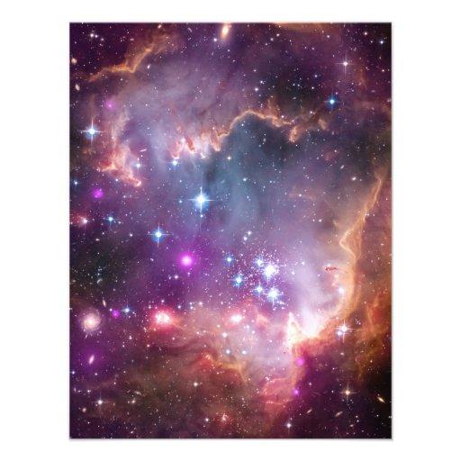 La supernova rosada del universo de la nebulosa de invitaciones personalizada